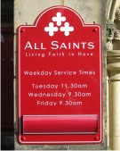 All Saints Hove Church Sign on a Wall