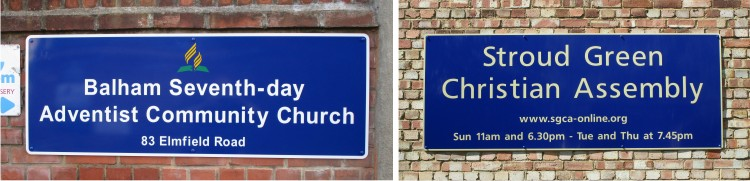 signs for churches