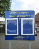 Littlehampton Baptist Church Notice Board on Posts