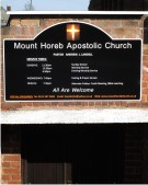 Mount Horab Apostolic Church Sign on a Wall