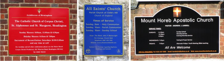 church signs wall mounted
