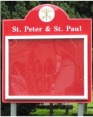 St Peter and St Paul Church Notice Board on Aluminium Posts