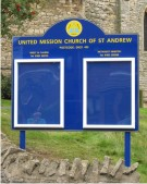 United Mission of St Andrew Church Notice Board