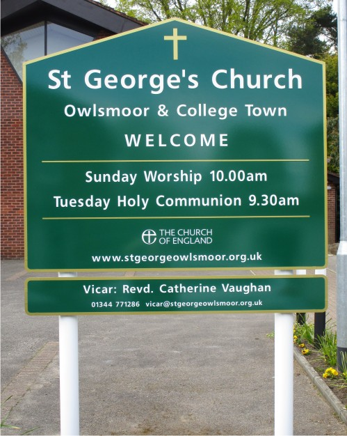 St Georges Church Sign