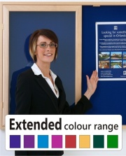 Extended Colour Range Notice Boards