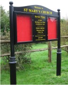 St Marys Church Premium Notice Board