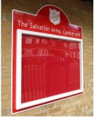 The Salvation Army Church Notice Board