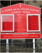 Church Notice Board on Aluminium Posts
