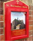 St. Barnabas Hove Church Notice Board on a Wall