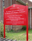 Premium Church Sign on Posts