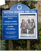 Sutton Quaker Meeting Church Notice Board