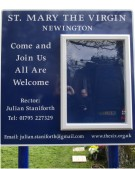 aluminium church notice board for St. Mary the Virgin Newington