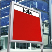 Church Notice Boards - Post