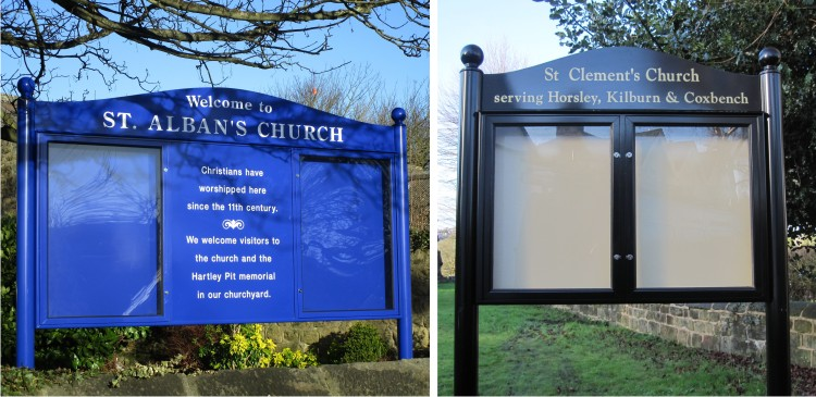 Premium Post Mounted Church Notice Boards