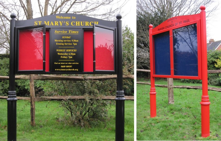 Premium Post Mounted Church Signs