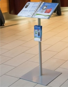 A4 Ringbinder Brochure / Menu Display Stand