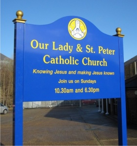 Premium Post Mounted Aluminium Church Signs