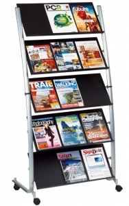 Cinco Freestanding Literature Stands