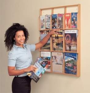 Oak Deluxe Wall Mounted Literature Dispensers