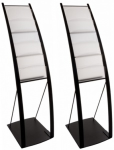 The Onyx Freestanding Literature Display Stand