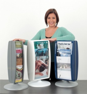 Panorama Revolving Desktop Leaflet Dispensers