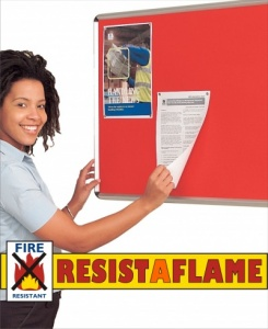 Resist-A-Flame Satin Aluminium Frame Notice Boards