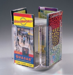 Revolving Desktop Literature Dispensers