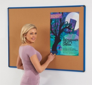 Shield Aluminium Framed Cork Notice Boards