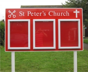 Triple Superior External Church Notice Board