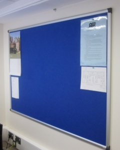Vision Aluminium Framed Notice Board - Extended Colour Range