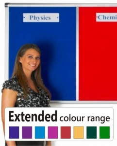 Vision Multi-Bank Notice Board - Extended Colour Range