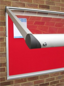 Vision Satin Silver Notice Board