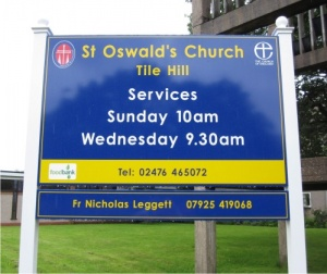 Box Tray ACM Post Mounted Church Signs