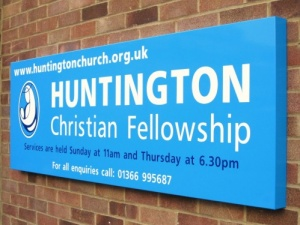 Wall Mounted Box Tray Church Signs