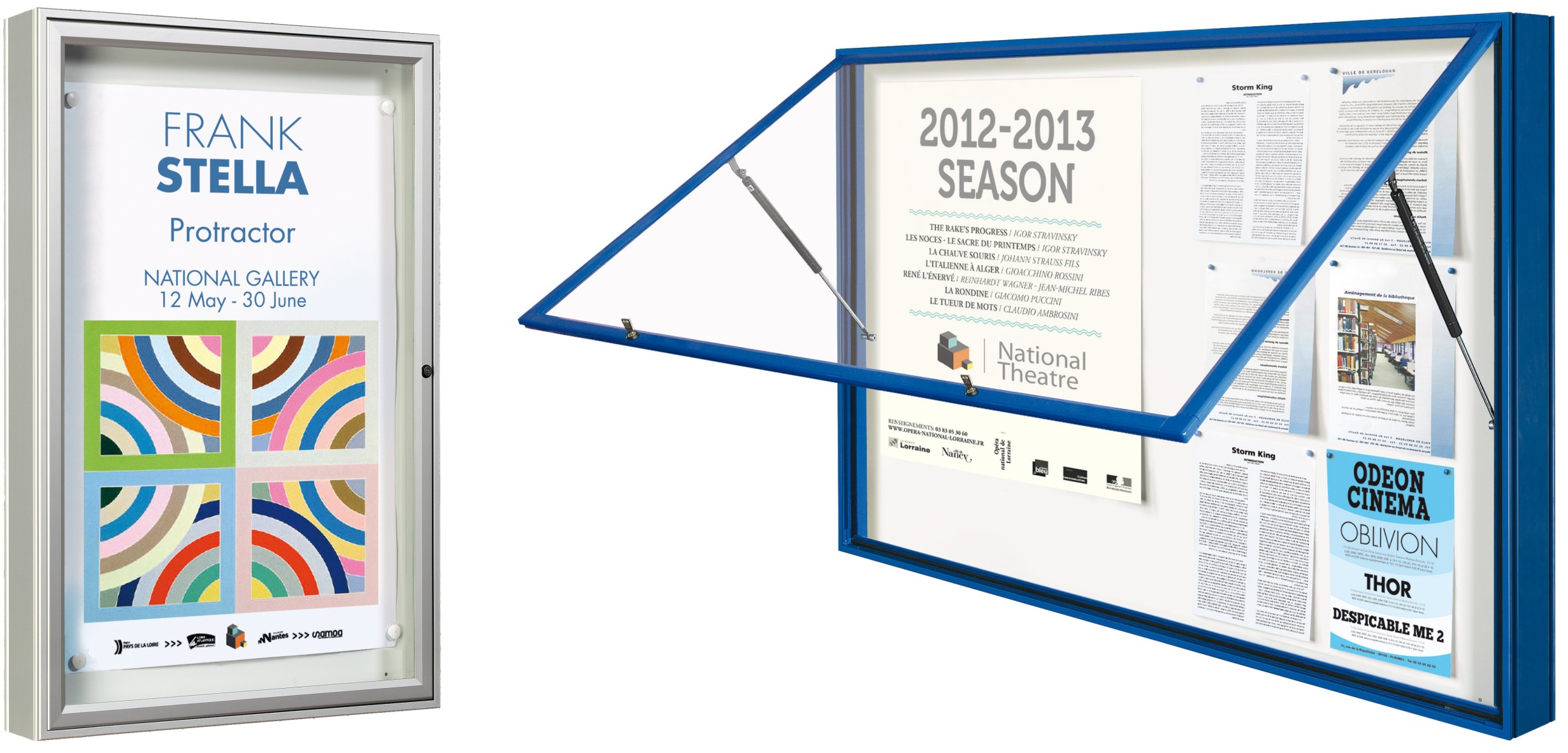 Urban 1000- Exterior Wall Mounted Magnetic Notice Boards