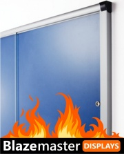 The Blazemaster Glass Sliding Door Notice Board