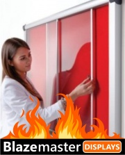 The Blazemaster Acrylic Sliding Door Notice Board