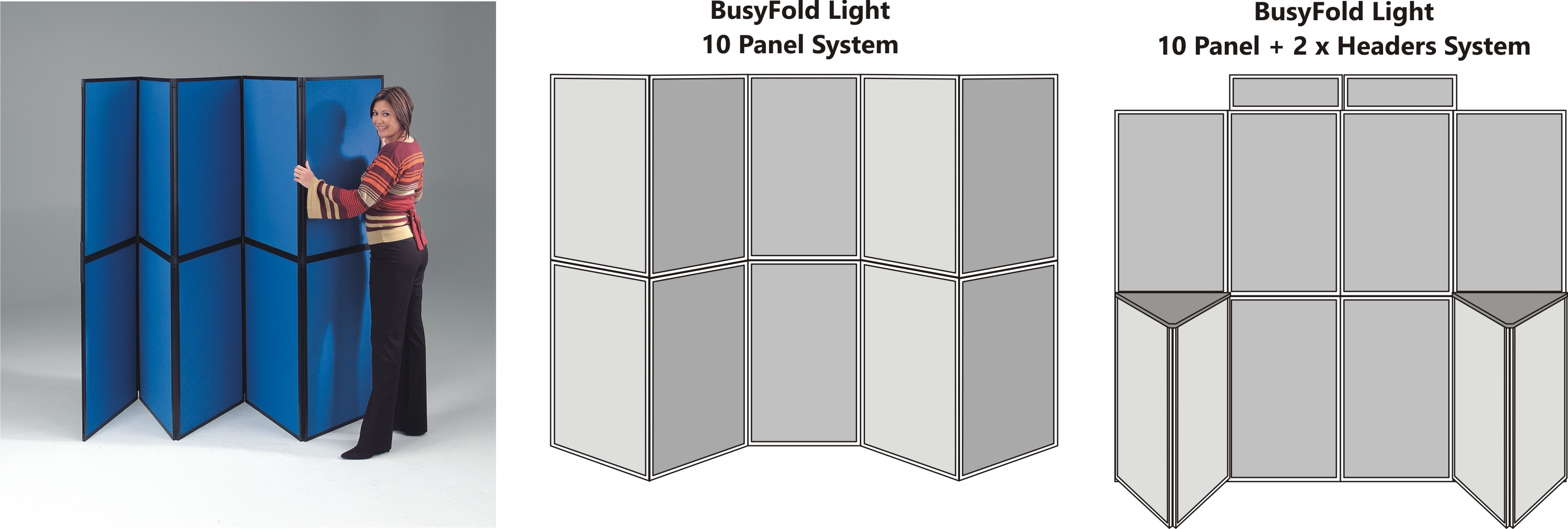 BusyFold Light 10 Panel Display System