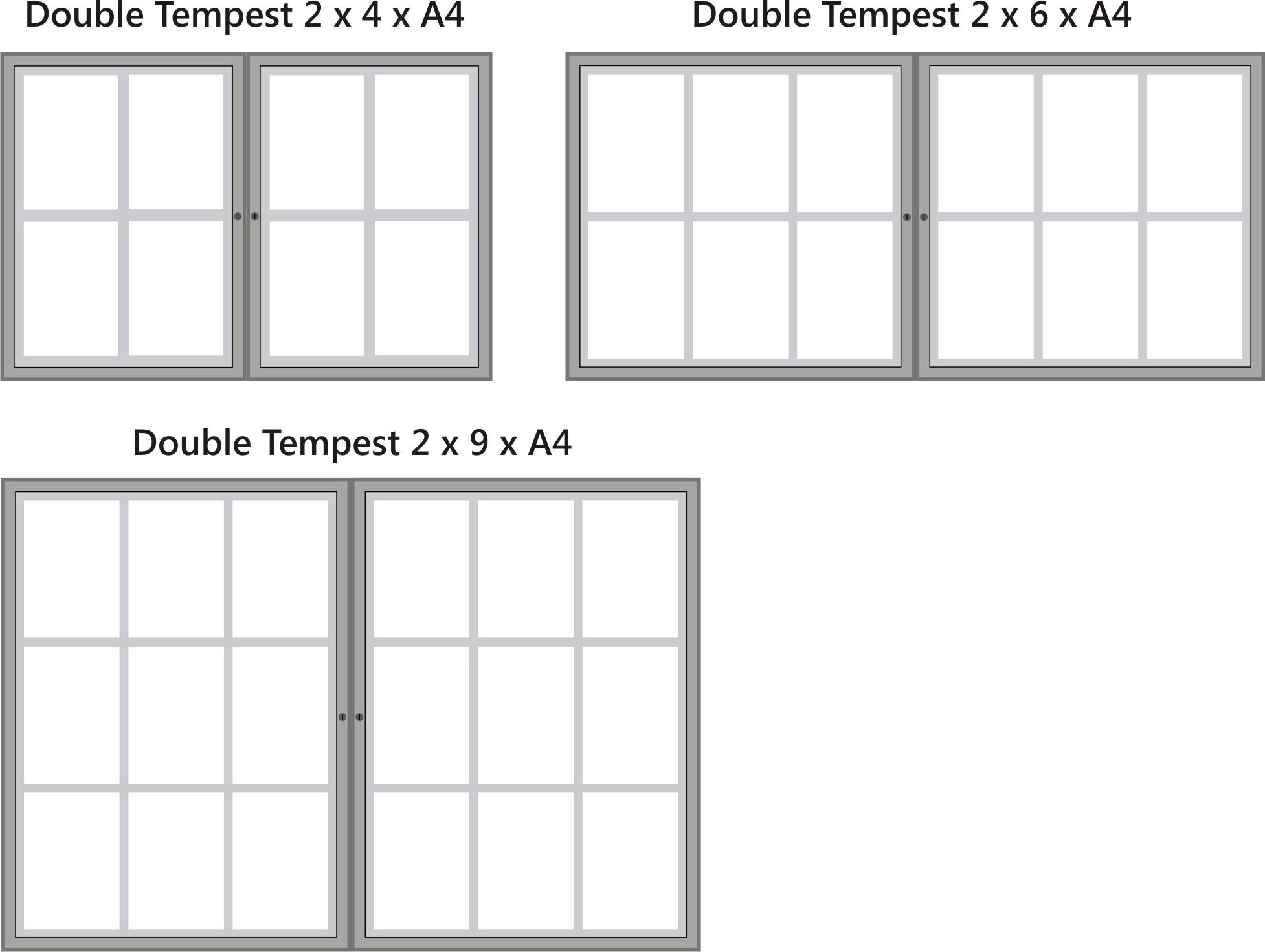 Double Tempest Notice Boards