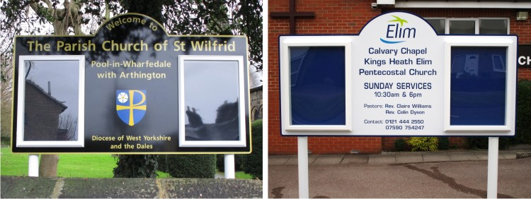Midi Superior Lockable Exterior School Notice Boards