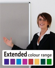 Deluxe Framed Noticeboard - Extended Colour Range