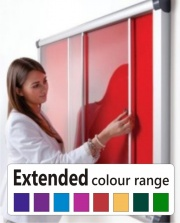 The Vision Acrylic Sliding Door Notice Board Extended Colour Range
