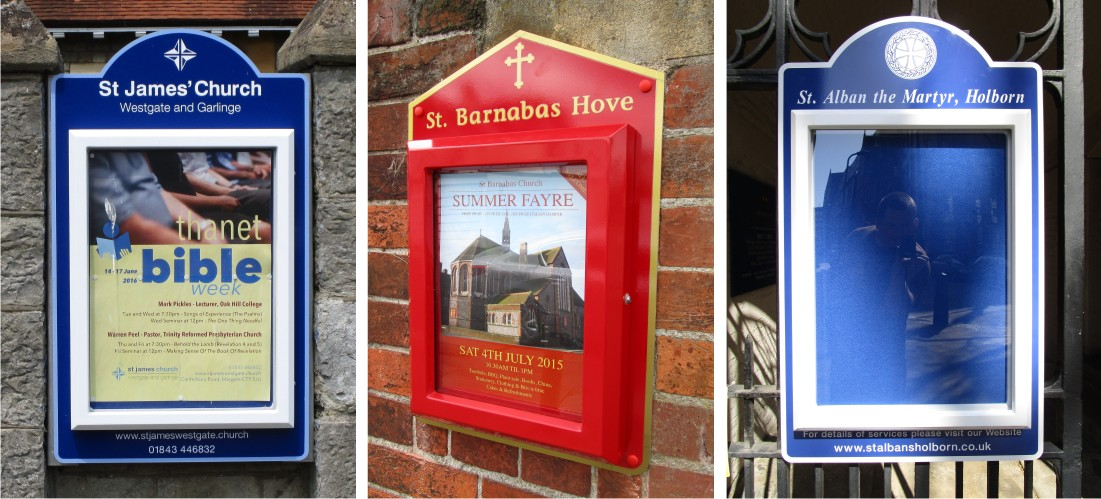Mini Superior Church Notice Board