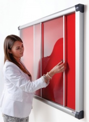 The Vision Acrylic Sliding Door Notice Board