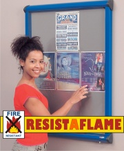 Resist-A-Flame Shield Top Hinged Showcase
