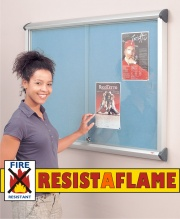 Shield Resist-A-Flame Showcase Sliding Door Notice Board