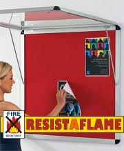 Resist-A-Flame Shield Tamperproof Corridor Noticeboards