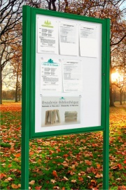 The Tradition Colour Post Mounted Notice Boards