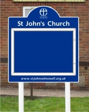 external magnetic notice boards uk. the titan midi external church notice board magnetic boards uk