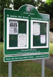 Two Door Superior External Church Notice Board